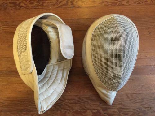 @fencinguniverse : 2 Vintage Fencing Mask Fencing Helmet White Fencing Gear Pre-owned Adult Large  $24.98 End http://aafa.me/1TKj1Rn http://aafa.me/22QDgCQ