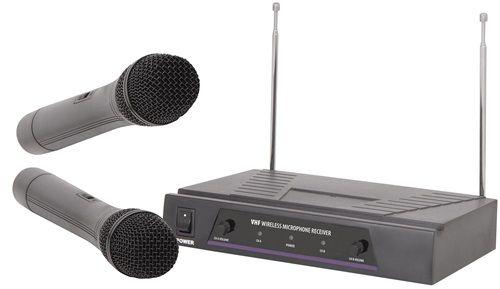 Pack Microfonos Inalambricos de Mano Receptor VHF 50 metros