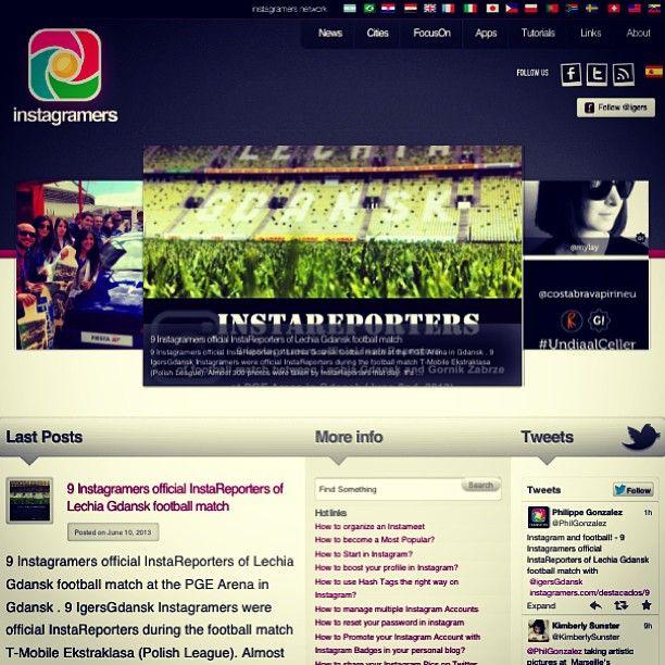 IgersGdansk InstaReporters on Instagramers.com. Thank you @igers.me @Philippe Gonzalez. #gdansk #igersgdansk #igers #instagramers #instareporters #grupamobilni #lechiagdansk #igerspoland #poland #trojmiasto #instameet #pomorskie #football (w: Instagramers Meeting Point)