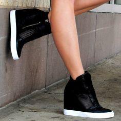 zapatillas con taco negras