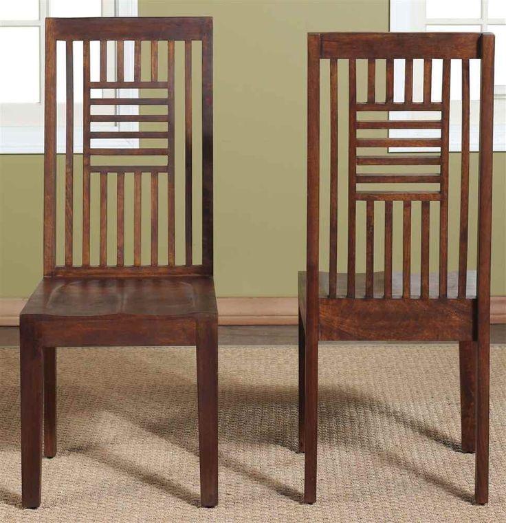 Modus furniture international 2 pack palindrome slat back for Dining room quilter