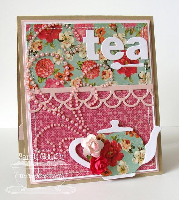 teapot card- Abby's birthday invitations!