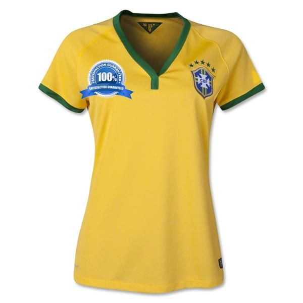2014 Brazil Womens World Cup Home Shirt sale $16.99 at http://worldcupestore.co.uk/