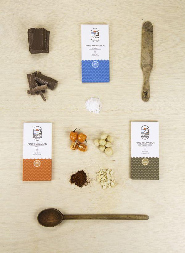 Pono Chocolate by Clarke Harris, via Behance