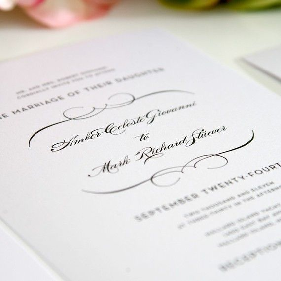 Invitations that are simple, delicate, and romantic while still traditional.