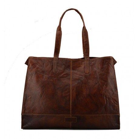 Fed shopper fra Treads i kalveskin i en flot brun farve - 280521
