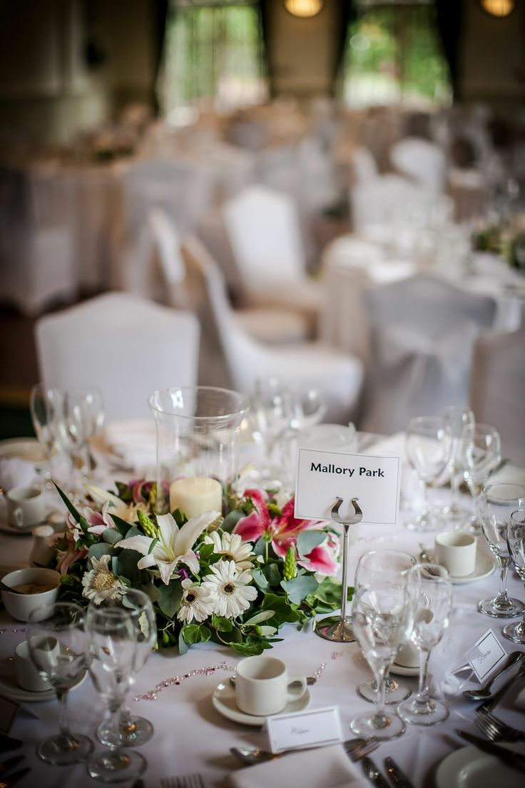 A detail shot from the wedding breakfast room at The Orangery.
