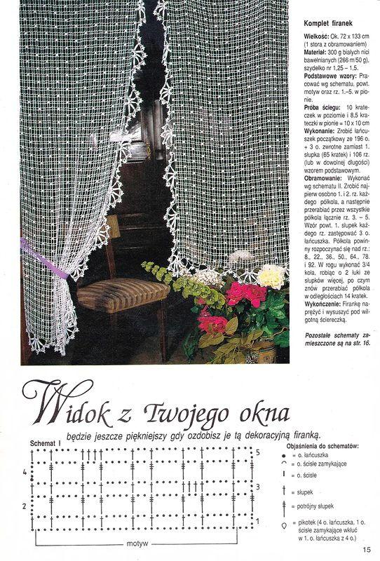 Crochet curtain … More