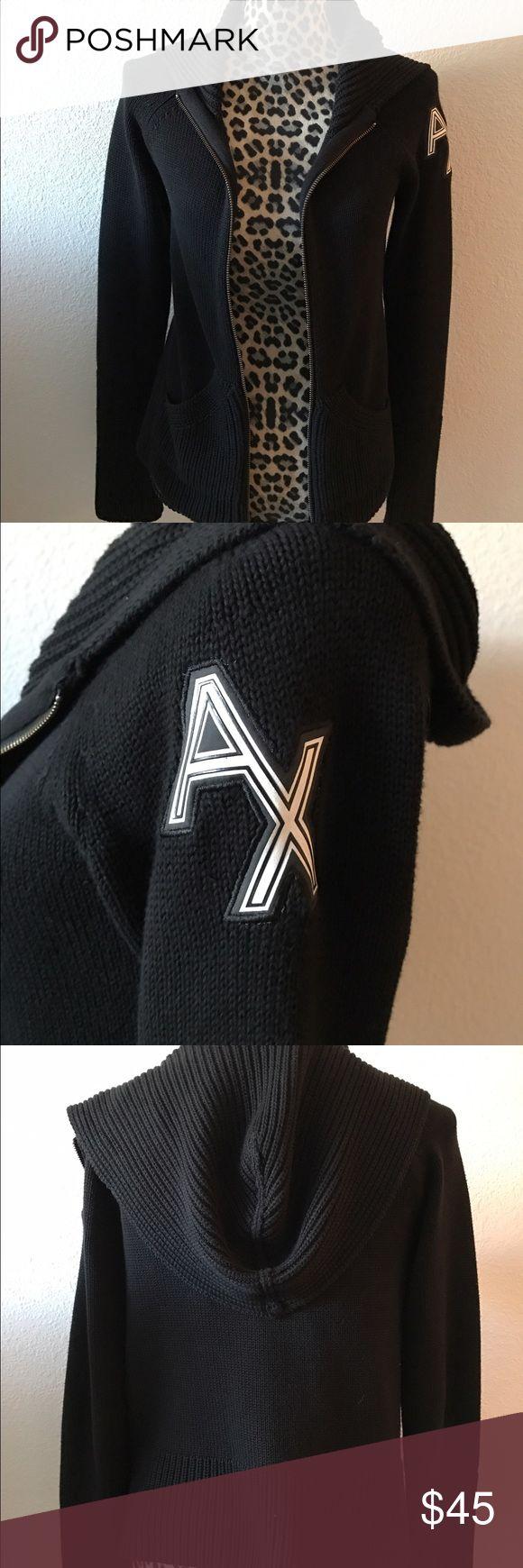Armani Exchange Hoodie Excellent used condition Armani Exchange Hoodie in size Medium. Color is black. A/X Armani Exchange Tops Sweatshirts & Hoodies