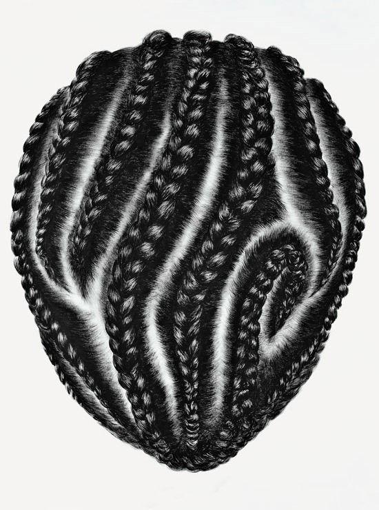 #Art by so yoon lym #hair #braids #afro