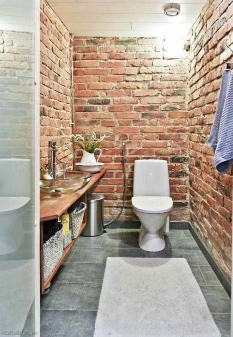 Red Brick Walls In A Toilet Garden Pinterest Toilets