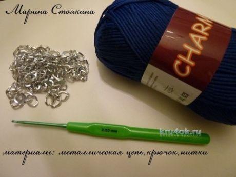 МК по изготовлению ручки для сумочки от Марины Стоякиной - вязание крючком на kru4ok.ru