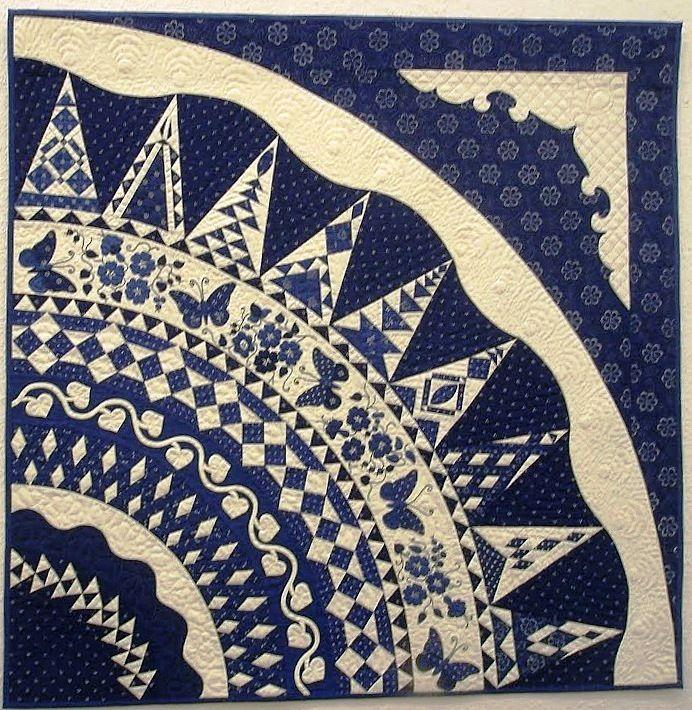 Dear Jane triangle blocks in the round, Hungarian quilt, Patchworktage Dortmund 2010