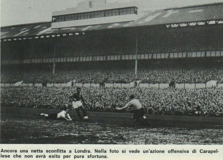 England 2 Italy 0 in Nov 1949 at White Hart Lane. A Italian fouls on his way through #Friendly