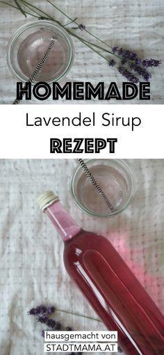 Lavendel Sirup ganz einfach selber machen. Simples und leckeres Rezept für Lavendelsirup für den Winter-Vorrat.