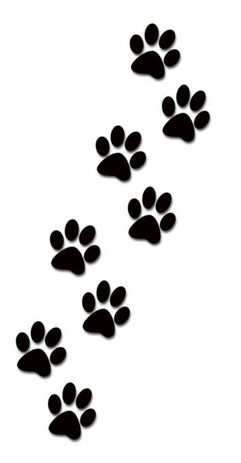 Paw print tattoos on dog paw prints scroll clipart 3 3