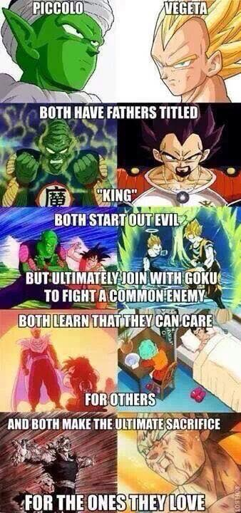 awwww :') this is soo true :') I really respect these two Piccolo and Vegeta, GOKU sure can change peoples heart there's no doubt why he is my favorite <3 GOKU :')