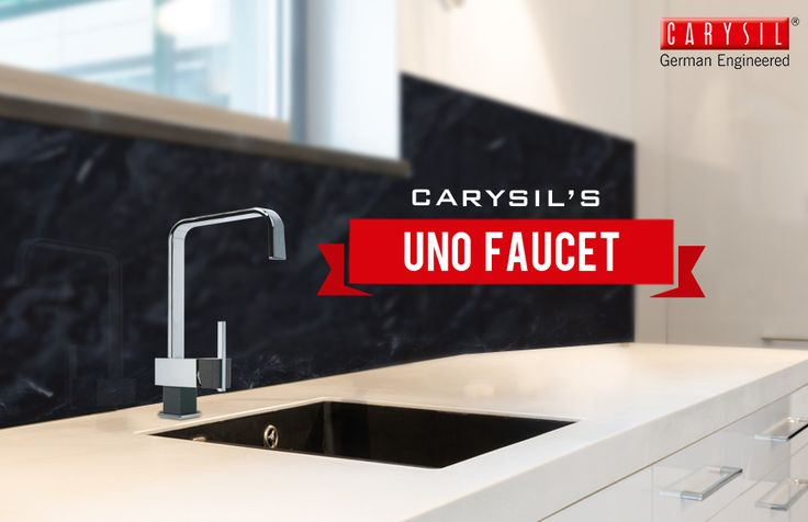 Give your kitchen sink an elegant update!  #CarysilKitchen #Faucet #Kitchen