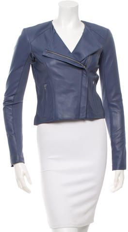 Veda Fitted Leather Jacket w/ Tags