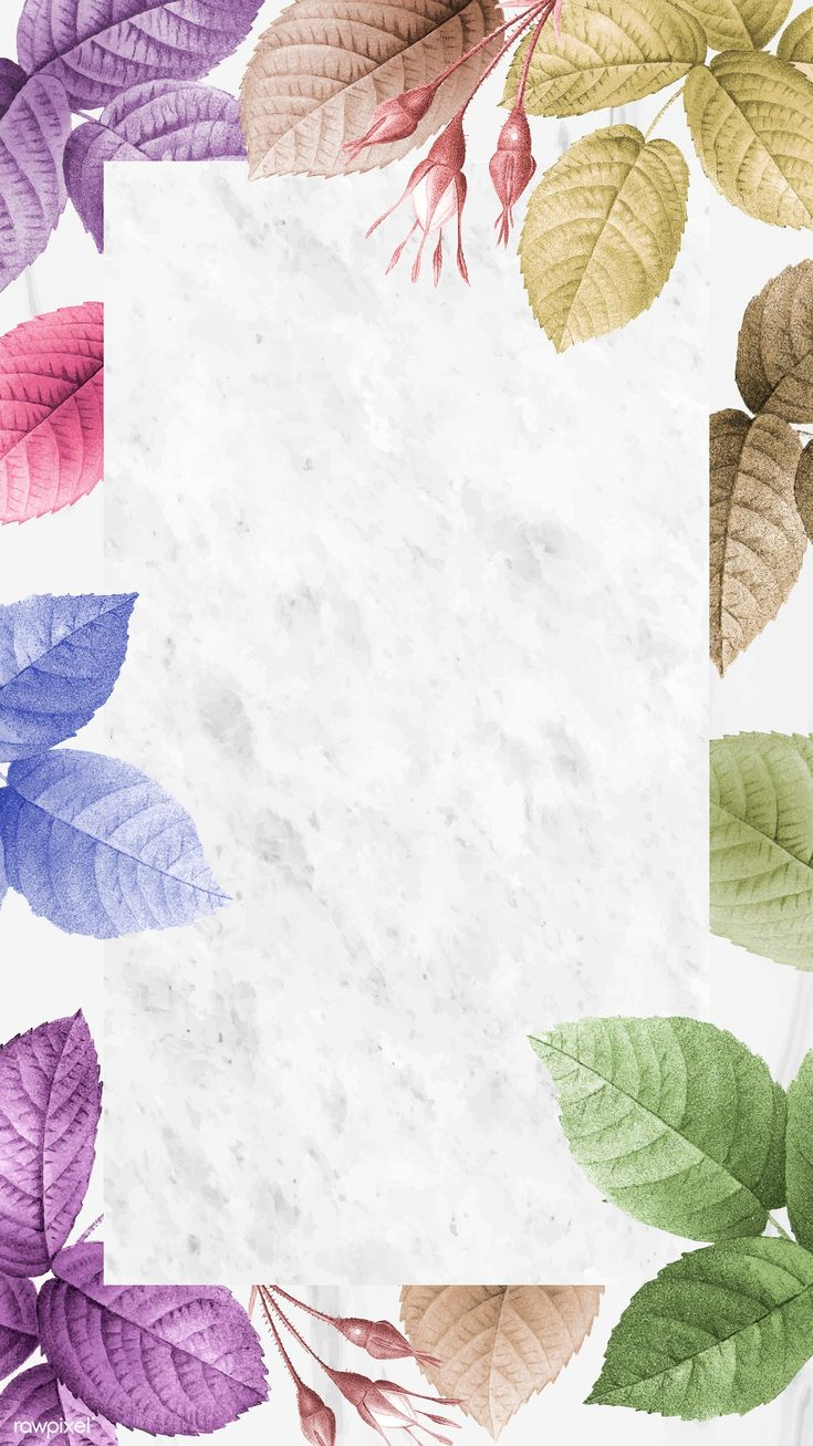 Download premium vector of Colorful foliage pattern mobile phone wallpaper
