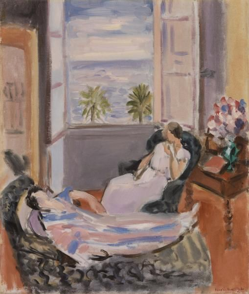 Iv 267 henri matisse interior with two figures open for Matisse fenetre ouverte