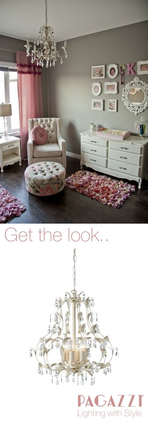 Shabby Chic style from www.pagazzi.com! Get the look - shabby chic - vintage - girls nursery - dusky pink - distressed look - interior design