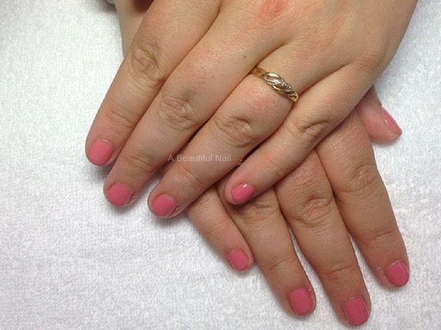 Gellak roze korte nagel #gellak #nails #nagels