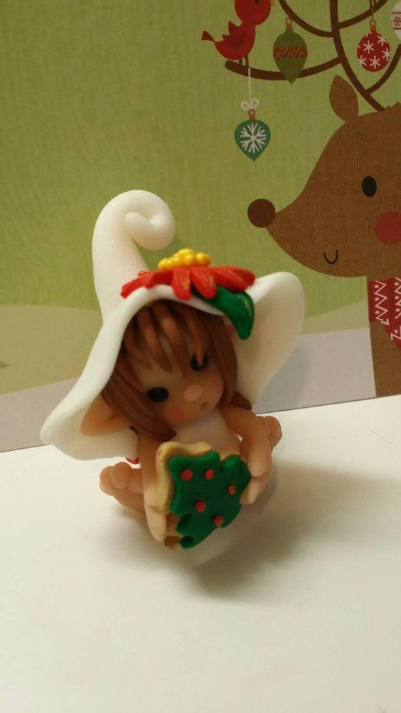 Christmas Sweetie Elf Polymer Clay Figurine My Etsy