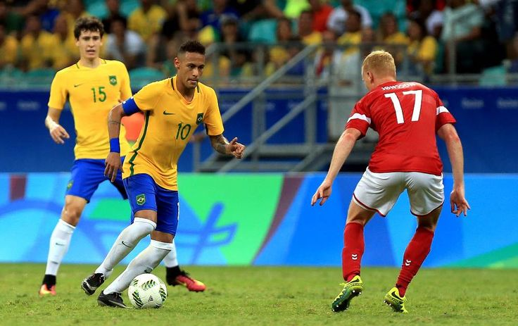 Brazil defeat Denmark 4-0 and progress to quarter-finals!  #brazil #denmark #quarterfinals #olympics #riodejaneiro