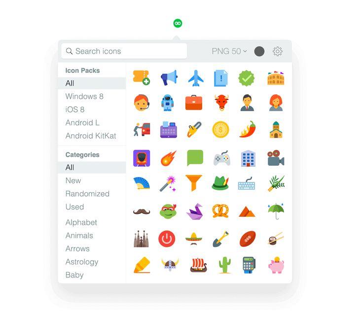 """Zbiór darmowych ikon.  Licencja wymaga jedynie linku w okienku dialogowym """"About"""" programu."""