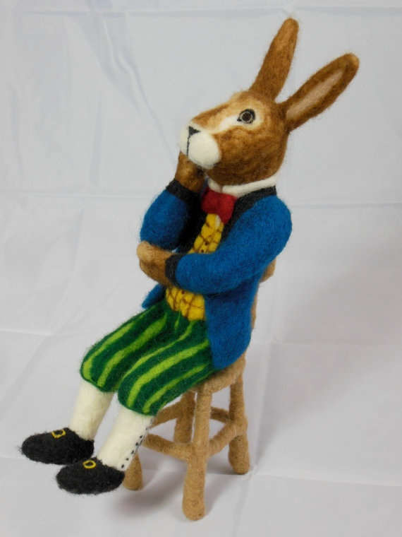 Needle Felted  March Hare