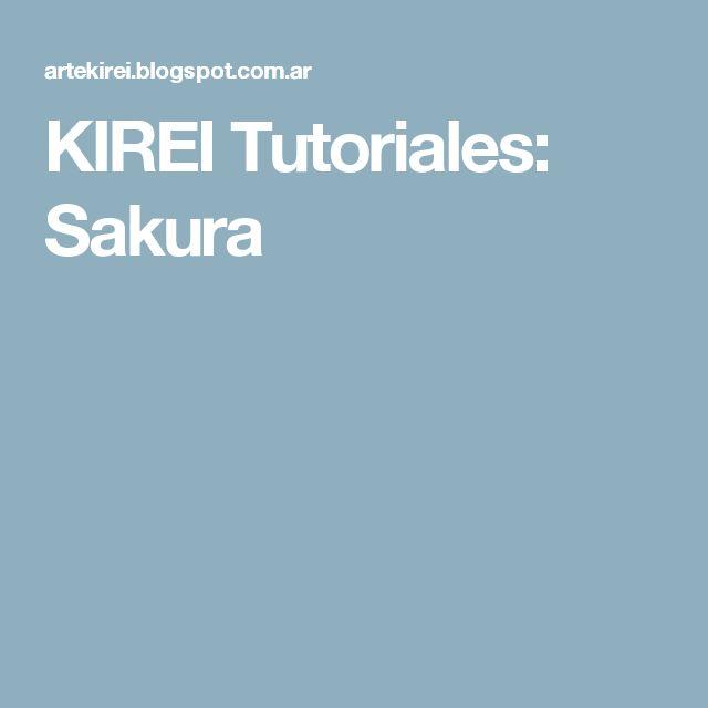 KIREI Tutoriales: Sakura
