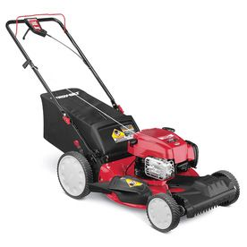 Troy-Bilt TB230 163cc 21-in Self-Propelled Front Wheel Drive 3-in-1 Gas Push Lawn Mower with Briggs and Stratton Engine and Mulching Capability