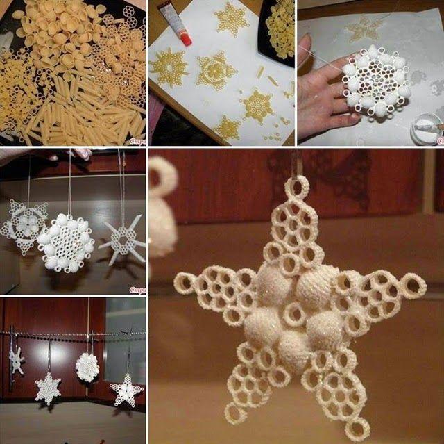 Lavoretti di Natale per bambini con il riciclo creativo della pasta