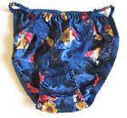 NEW VTG 100% Polyester Satin String Bikini Floral Lace Panties SZ S, M, L