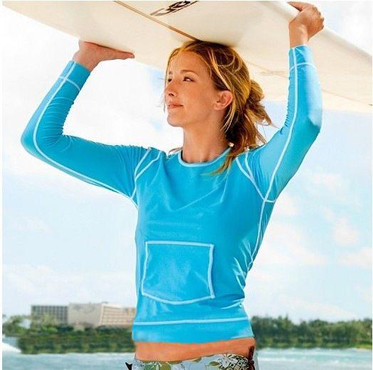 New Free Shipping Women Rash Guard Sunproof Long Sleeve Swimwear Rashguard Bodyboard Rash Surfing Suit Rashguards Surf Clothes(China (Mainland))