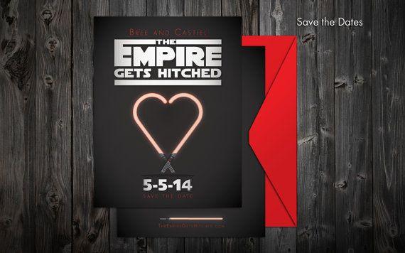 Star Wars Wedding Stationery Set by TheeAshleyDee on Etsy 17500