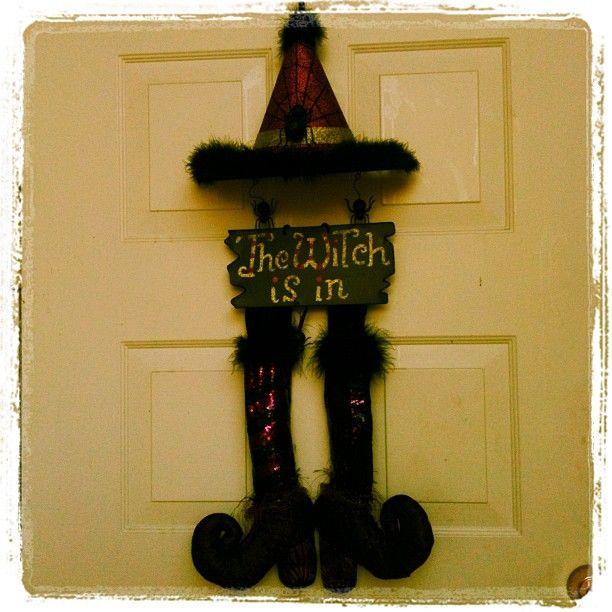 Halloween Door Decor <{:)