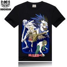 Men  Short Sleeve T-shirt 3D Printing  Death  Note Cotton T-shirt Free Shipping