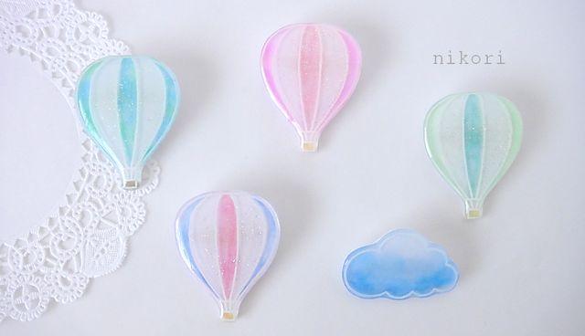 minne(ミンネ)| 気球のブローチ