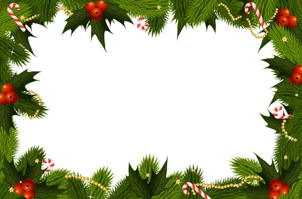 Christmas Transparent PNG Border Frame