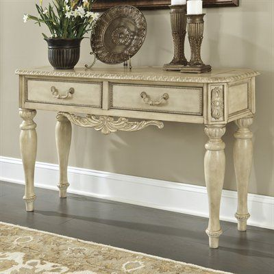 Signature Design By Ashley T707 4 Ortanique Sofa Console Table   Home  Furniture Showroom