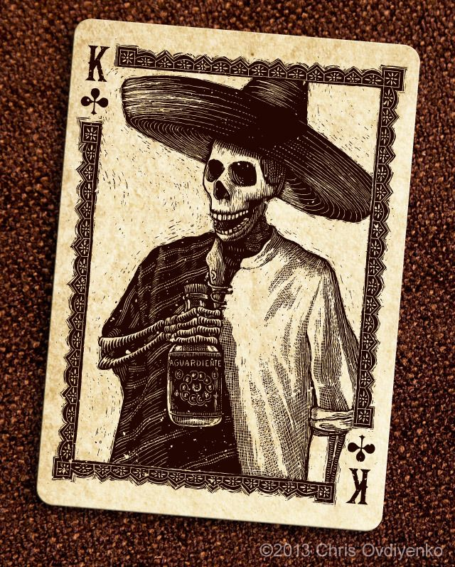 Calaveras — Playing cards inspired by the Day of the Dead by Chris Ovdiyenko — deadonpaper.com