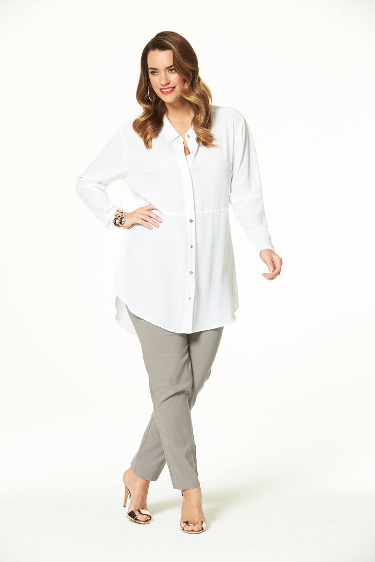 Style Hero Long Shirt in White