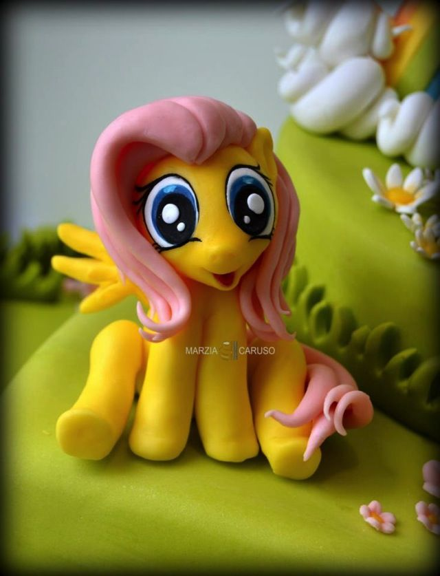 My Little Pony Cake. That looks hand made. I want to try