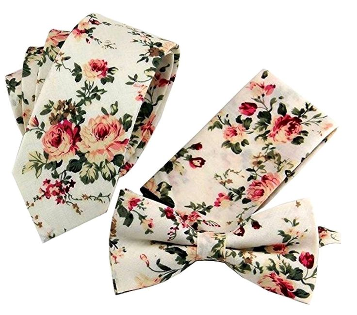 White Pink Floral Tie Pocket Square Groomsmen Wedding Bowtie Cotton Bow Tie Pretied Bow Ties Groomsman Grooms Usher Mens Tie Flower Tie by WeddingTieShoppe on Etsy https://www.etsy.com/listing/494102361/white-pink-floral-tie-pocket-square