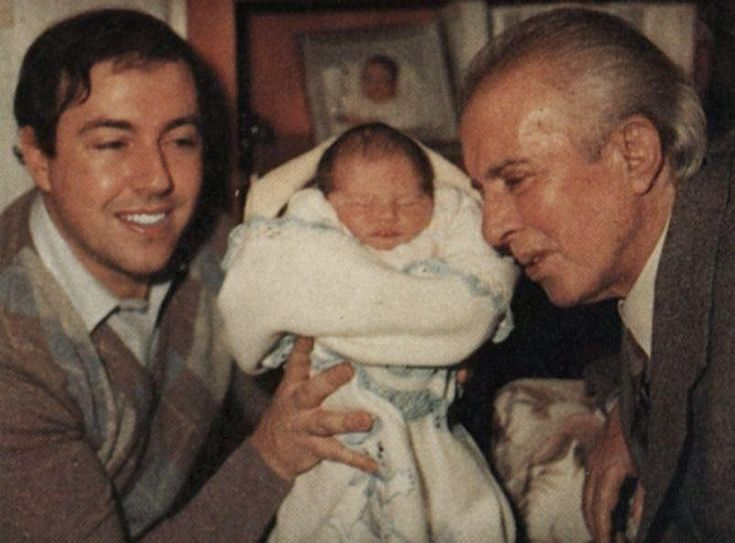Enver Hoxha, with son and grandson (1980 decade?).