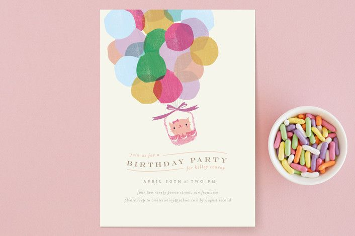 Balloons Children's Birthday Party Invitations by ... | Minted