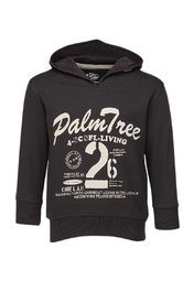 Your little prince will look smart wearing this black coloured sweatshirt by Palm Tree. Trendy and appealing, it features a stunning graphic print on the front. Made from a blend of 80% cotton and 20% polyester, it will keep him warm and cosy all day long.