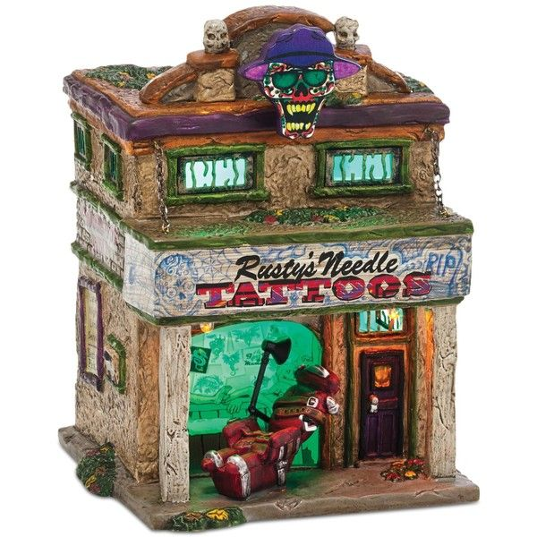 department 56 halloween village rustys needle collectible figurine 71 liked on polyvore featuring